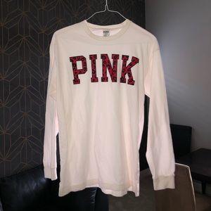 VS PINK Long sleeve oversized T-shirt Red Script